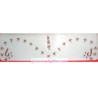 Crystal Bridal Wedding Bindis Set Maroon with White Crystals Gold beads Bellydance SCA LOTR BB108