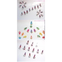 3 Sets jewel Bindis Body Jewelry crystals, diamante, jewels, doll nails art tattoos - 48 bindis