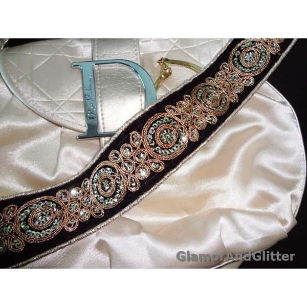 "1 1/2"" Hand Embroidered Champagne Gold Black Velvet Trim Lace Regal SCA Renaissance LOTR VT101"