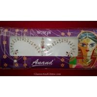 Bridal Bindis Indian Wedding Designer Body Jewels White Garnet Gold Crystals BB109