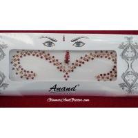 Bollywood Indian Bridal Bindis Body Jewels Jewelry Wedding Designer  White Garnet Gold Crystals BB123