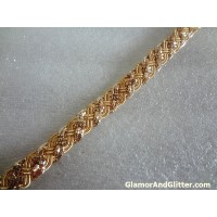 "3.3 yards 1/2"" Metallic Gold Bullion Braided Trim Bridal Wedding Belts Jewelry Home Decor Renaissance BT116"