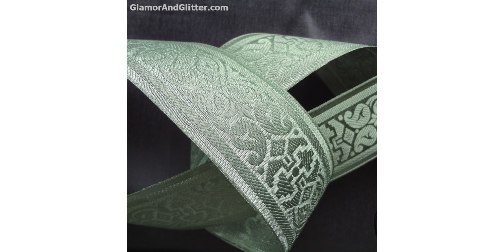 2 Quot Wide Silver On Silver Metallic Bridal Jacquard Trim
