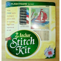 Anchor Sewing Stitch Kit with Embroidery Thread Canvas Instructions Crafts Boat  SK101