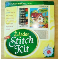 Anchor Sewing Stitch Kit with Embroidery Thread Canvas Instructions Crafts FarmHouse  SK103