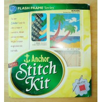 Anchor Sewing Stitch Kit with Embroidery Thread Canvas Instructions SeaSide  SK102