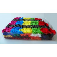 100 Skeins Hand Embroidery Thread Floss Mercerized Cotton Sewing Crafts Crochet Cross Stitch Multiple Colors ET101