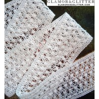 "1 1/2"" Wide White Crochet Cotton Soft Delicate Lace Trim TW102"