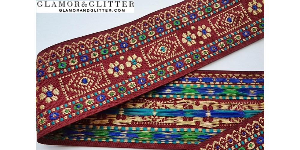1 33 Yards 1 3 4 Quot Wide Jacquard Embroidered Trim Lace Sca