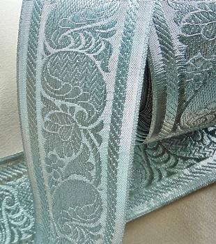 Bridal Silver Jacquard Lace
